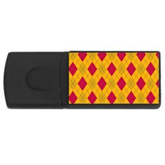Plaid pattern USB Flash Drive Rectangular (1 GB)