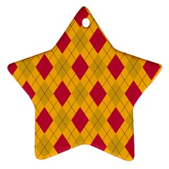 Plaid pattern Star Ornament (Two Sides)