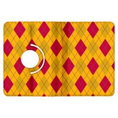 Plaid pattern Kindle Fire HDX Flip 360 Case