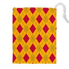 Plaid pattern Drawstring Pouches (XXL)