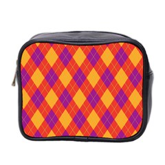 Plaid pattern Mini Toiletries Bag 2-Side