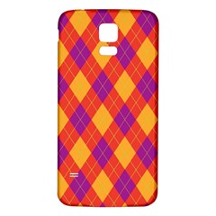 Plaid pattern Samsung Galaxy S5 Back Case (White)