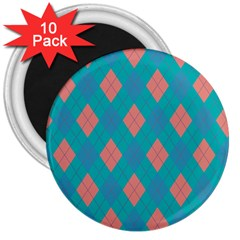 Plaid pattern 3  Magnets (10 pack)