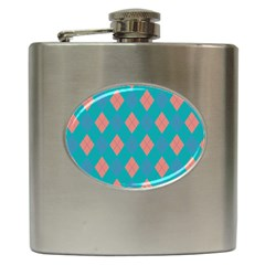 Plaid Pattern Hip Flask (6 Oz)