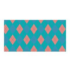 Plaid pattern Satin Wrap