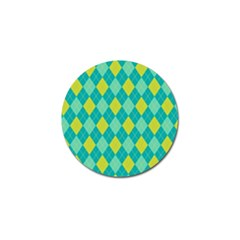 Plaid pattern Golf Ball Marker (4 pack)