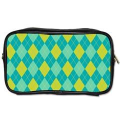 Plaid pattern Toiletries Bags