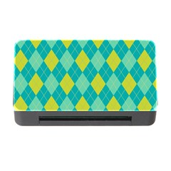 Plaid pattern Memory Card Reader with CF