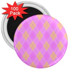Plaid pattern 3  Magnets (100 pack)