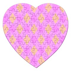 Plaid pattern Jigsaw Puzzle (Heart)
