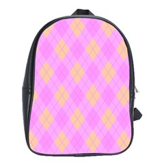 Plaid pattern School Bags(Large)