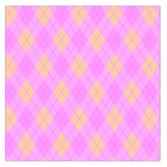 Plaid pattern Large Satin Scarf (Square)