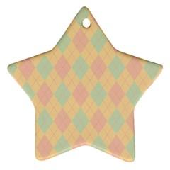 Plaid pattern Ornament (Star)