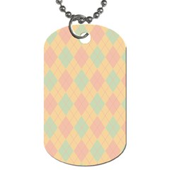 Plaid pattern Dog Tag (Two Sides)