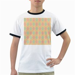 Plaid pattern Ringer T-Shirts