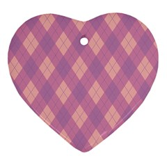 Plaid pattern Ornament (Heart)