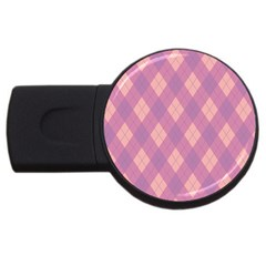 Plaid pattern USB Flash Drive Round (4 GB)