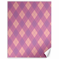 Plaid pattern Canvas 18  x 24