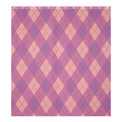 Plaid pattern Shower Curtain 66  x 72  (Large)