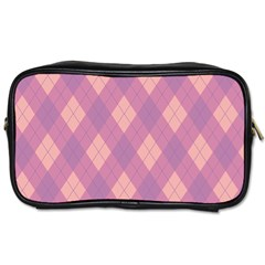 Plaid pattern Toiletries Bags 2-Side