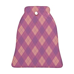 Plaid pattern Bell Ornament (Two Sides)