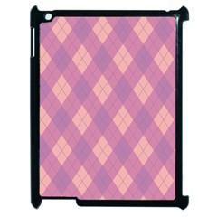 Plaid pattern Apple iPad 2 Case (Black)