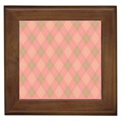 Plaid pattern Framed Tiles