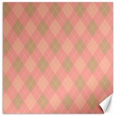 Plaid pattern Canvas 20  x 20