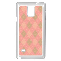Plaid pattern Samsung Galaxy Note 4 Case (White)