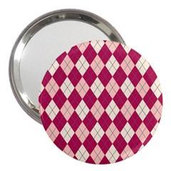 Plaid pattern 3  Handbag Mirrors