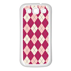 Plaid pattern Samsung Galaxy S3 Back Case (White)