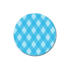 Plaid pattern Magnet 3  (Round)