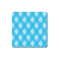 Plaid pattern Square Magnet
