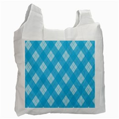Plaid pattern Recycle Bag (Two Side)