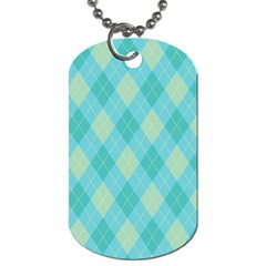 Plaid pattern Dog Tag (One Side)