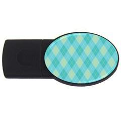 Plaid pattern USB Flash Drive Oval (4 GB)