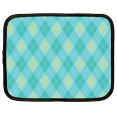Plaid pattern Netbook Case (XXL)