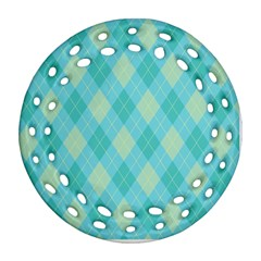 Plaid pattern Ornament (Round Filigree)