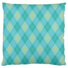 Plaid pattern Large Cushion Case (Two Sides)