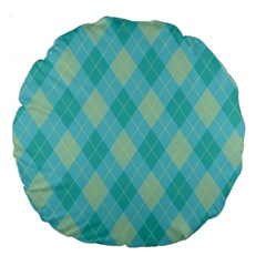 Plaid pattern Large 18  Premium Round Cushions