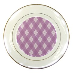 Plaid pattern Porcelain Plates