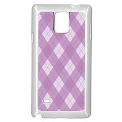 Plaid pattern Samsung Galaxy Note 4 Case (White)