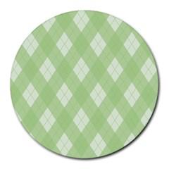 Plaid pattern Round Mousepads