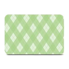 Plaid pattern Plate Mats