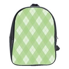 Plaid pattern School Bags(Large)