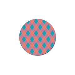 Plaid pattern Golf Ball Marker (10 pack)