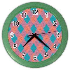 Plaid pattern Color Wall Clocks