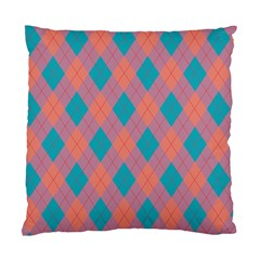 Plaid pattern Standard Cushion Case (One Side)