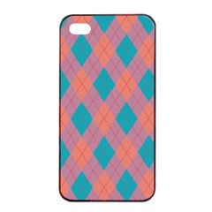 Plaid pattern Apple iPhone 4/4s Seamless Case (Black)