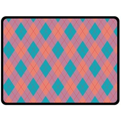 Plaid pattern Double Sided Fleece Blanket (Large)